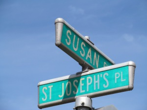 At the corner of Susan and St. Joseph