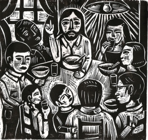 Jesus Eats with Friends by Rick Beerhorst